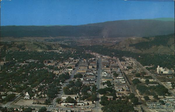 Aerial View of Town Rapid City South Dakota