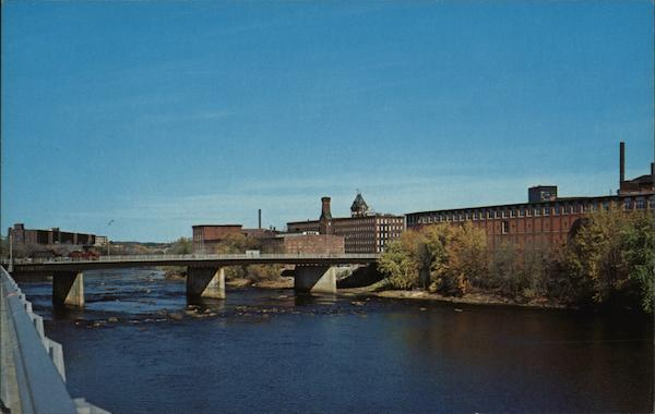 River Through Manchester New Hampshire
