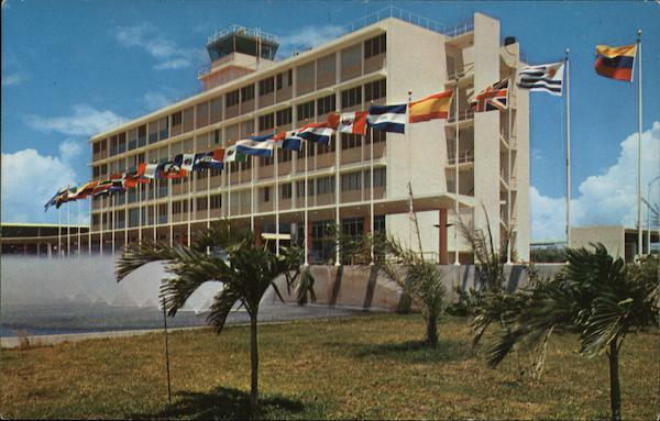 international airport hotel san juan pr puerto rico postcard. Black Bedroom Furniture Sets. Home Design Ideas