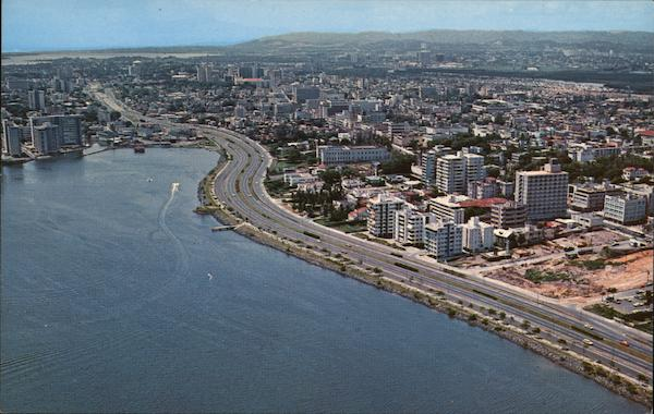 Aerial View of Section of the City San Juan Puerto Rico