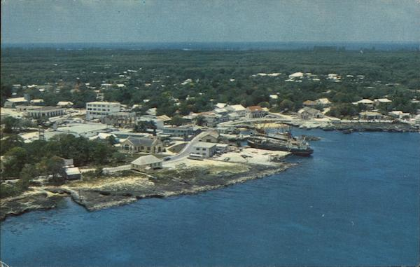 Aerial Shot of Georgetown Grand Cayman Bahamas Caribbean Islands