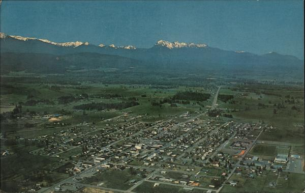 Aerial View of Town Sequim Washington