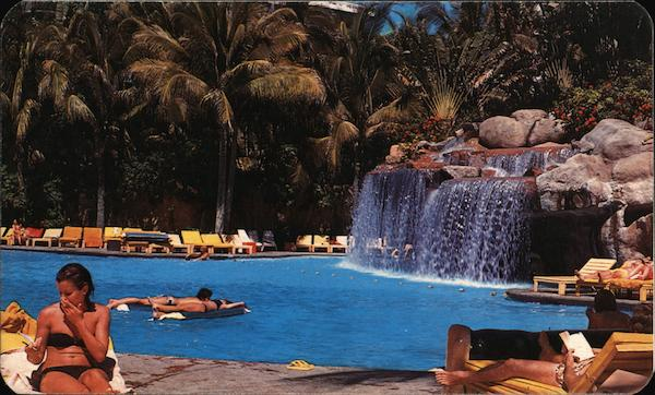 Swimming Pool of the Princess Hotel Acapulco Mexico