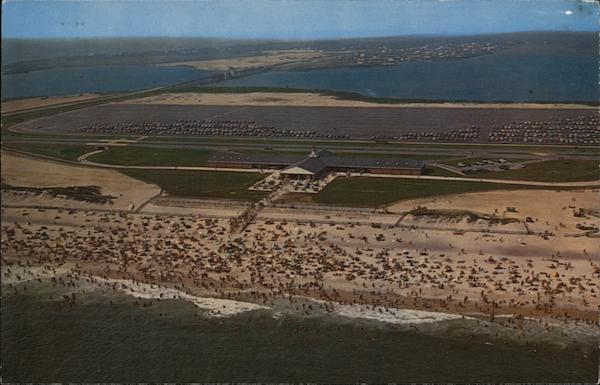 Aerial View, Smith Point Country Park Mastic Beach New York