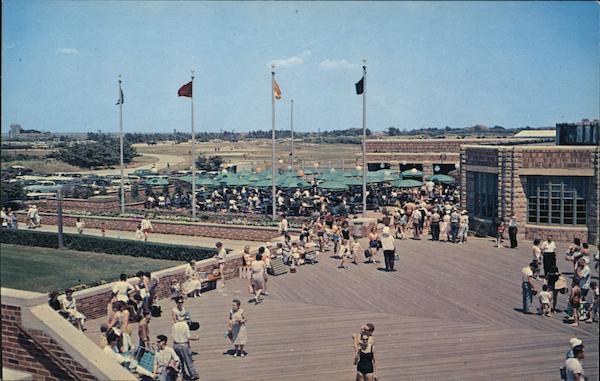 Boardwalk Restaurant And Terrace Jones Beach Ny Postcard