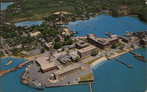 Aerial View of Woods Hole Massachusetts
