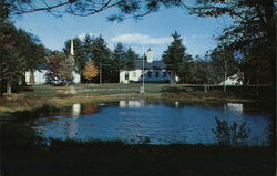 Hill Village Bible Church, Pond from Rt. 3a Postcard