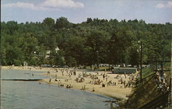 Bathing and Sunning at Beautiful Weirs Beach