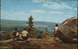 Lookout Point on Mt. Sunapee Postcard