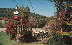 The Aerial Gondolas at Mt. Sunapee State Park Postcard
