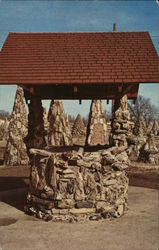 Wishing Well Built of Petrified Wood Postcard