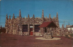 Petrified Wood Park - Museum and Wishing Well Postcard