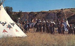 CRAZY HORSE PAGEANT Postcard