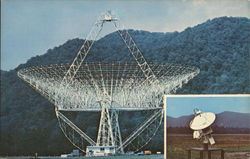 Radio Telescope at the NRAO Postcard