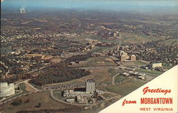 University of West Virginia - Aerial View of Campus