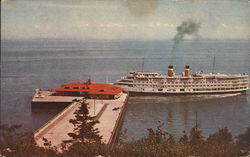 C.S.L. Cruise Ship at Wharf Postcard