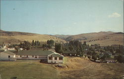 Panoramic View of the City of Fossil, Oregon