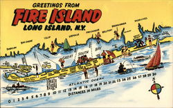 Greetings from Fire Island Postcard