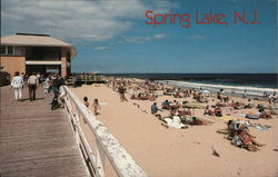 Beach at Spring Lake Postcard
