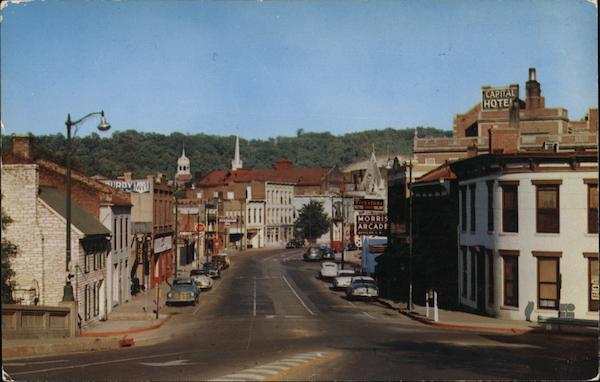 Main Street as Seen From Memorial Bridge Frankfort Kentucky