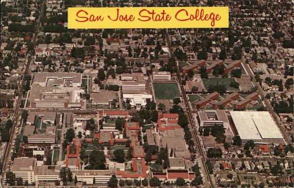 Aerial View of San Jose State College California