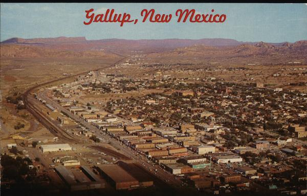 Aerial View of Town Gallup New Mexico