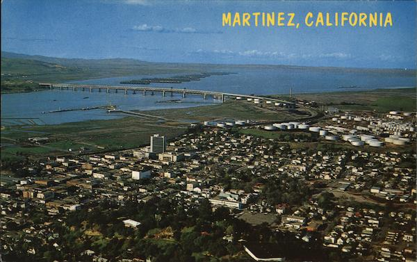 Aerial View of Town Martinez California