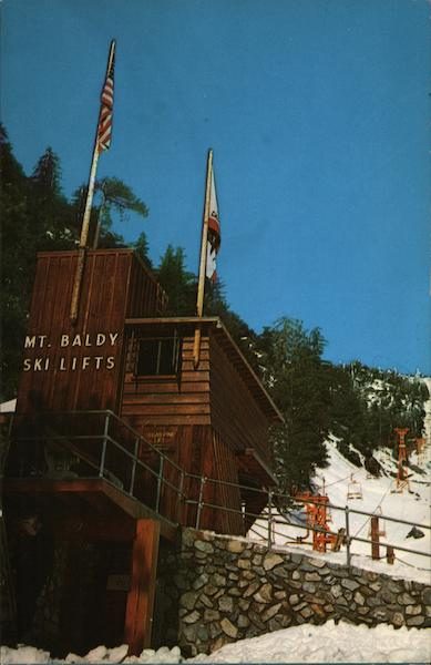 Mt. Baldy Ski Lifts Mount Baldy California J. R. Horn