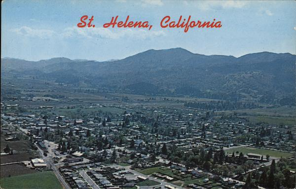 Aerial View of Town Saint Helena California