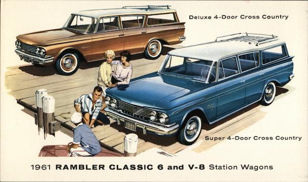1961 Rambler Classic 6 and V-8 Station Wagons Cars