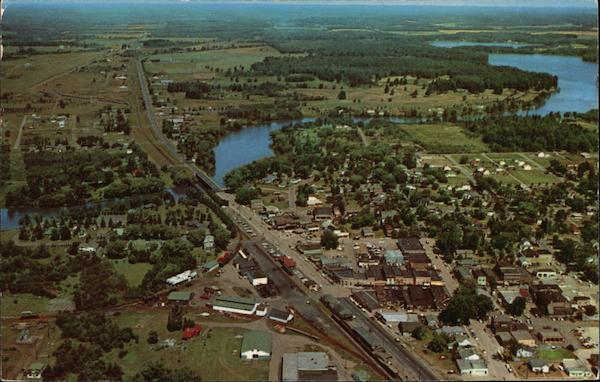 Aerial View of Town Eagle River Wisconsin