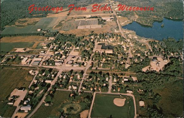 Aerial View of Elcho Wisconsin Elaine H. Duchac