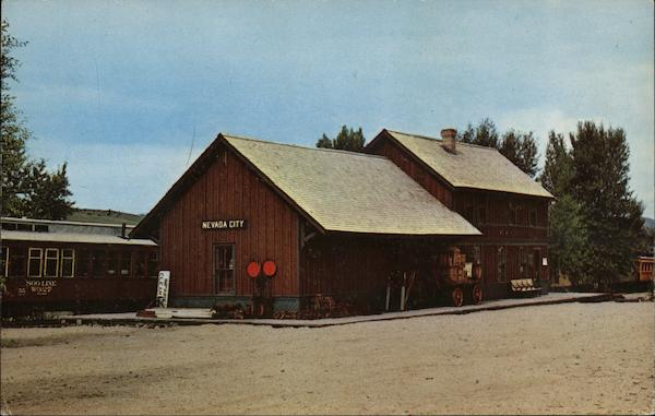 Alder Gulch Short Line Railroad, a historic depot Nevada City Montana