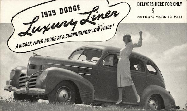 1939 Dodge Luxury Liner Cars