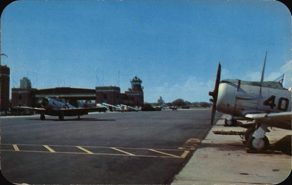 U.S. Naval Air Station - Flight Tower and Landing Apron Pensacola Florida