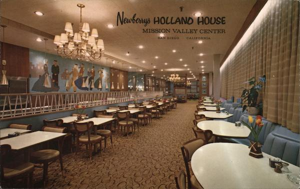 Newberry's Holland House Cafeteria and Coffee Shop San Diego California