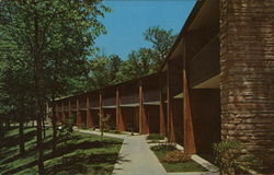 Rear View of Lodge, Pennyrile Forest State Resort Park Postcard