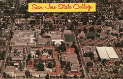 Aerial View of San Jose State College