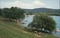 A Picturesque View of Glimmerglass State Park on Otsego lake