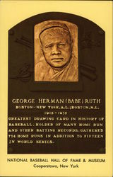 "Plaque of George Herman ""Babe"" Ruth, National Baseball Hall of Fame"