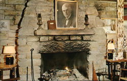 Brown County State Park - Abe Martin Lodge, Fireplace Postcard