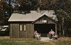 Squire Marshmallow - Rustic Guest Cabin, Abe Martin Lodge Postcard