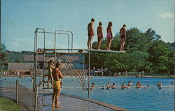 Brown County State Park - Swimming Pool Postcard