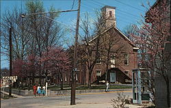 Brown County Scenery, Court House at Redbud Time Postcard