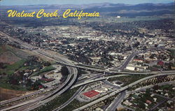 A Panoramic Aerial View of Walnut Creek Freeway Interchange