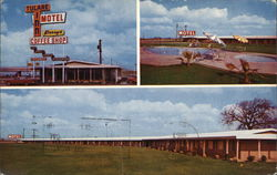 Tulare Inn Motel - Perry's Coffee Shop Postcard