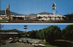 Forecourt and Pool Area, Lu-Ann Motel
