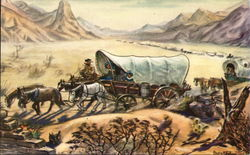 Covered Wagon Diorama, Ghost Town