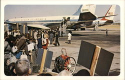 President John F. Kennedy and Party Leaving Airplane at Love Field