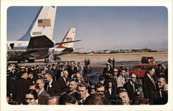 Vice President Johnson and Others at Love Field
